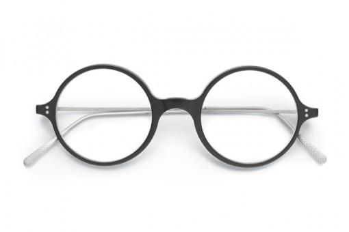 GL 601 Kreisrunde Brille schwarz