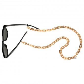 Brillenkette Bold, beige turtle