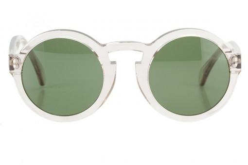 Le Flâneur, runde Sonnenbrille, transparent
