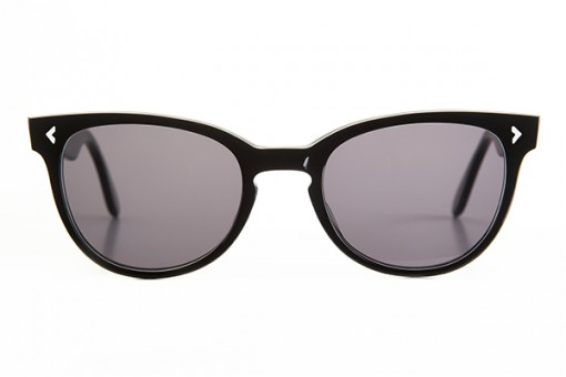 Jeunesse Dorée, Cat Eye Sonnenbrille, schwarz