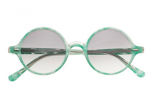 Runde Vintage Sonnenbrille Green Tee