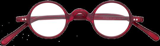 Brille kreisrund Ares, rot
