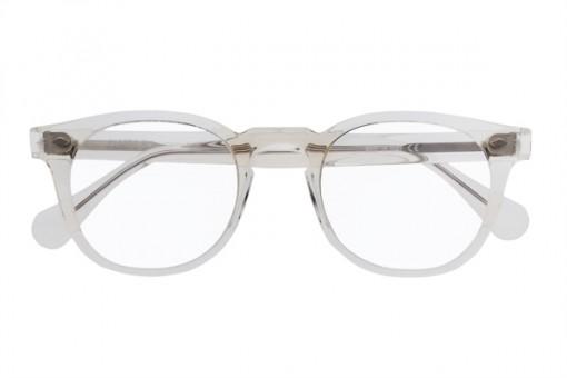 James D. Vintage Brille Panto, champagner, durchsichtig