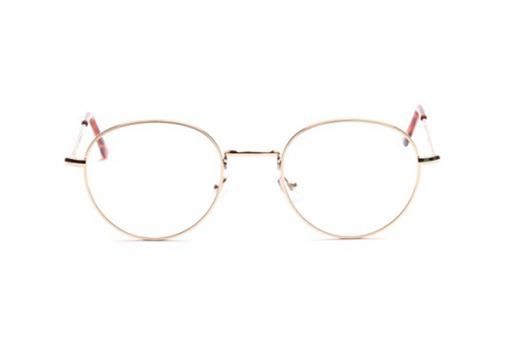 K&B Panto Brille aus Metall, rund, gold