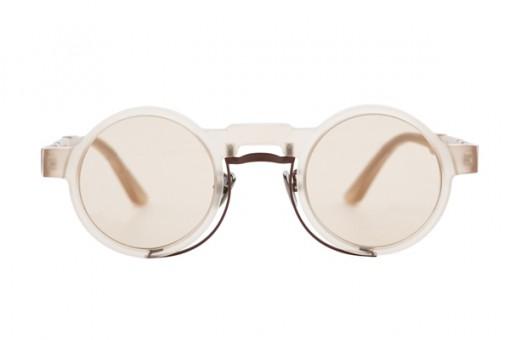 Maske N3, Sonnenbrille, rund, nude matt
