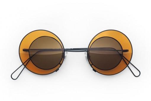 Theo 6, Sonnenbrille, Metall, Orange - Braun