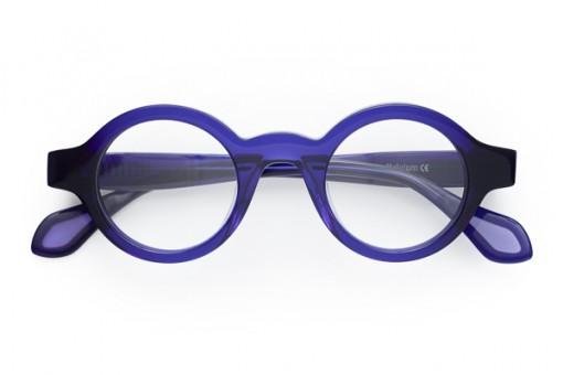 Theo Mille 11, Brille Kreisrund, Purple