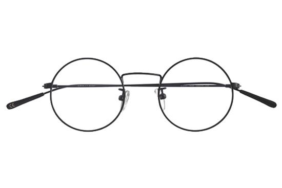 brille runde gl ser baio matt schwarz epos milano