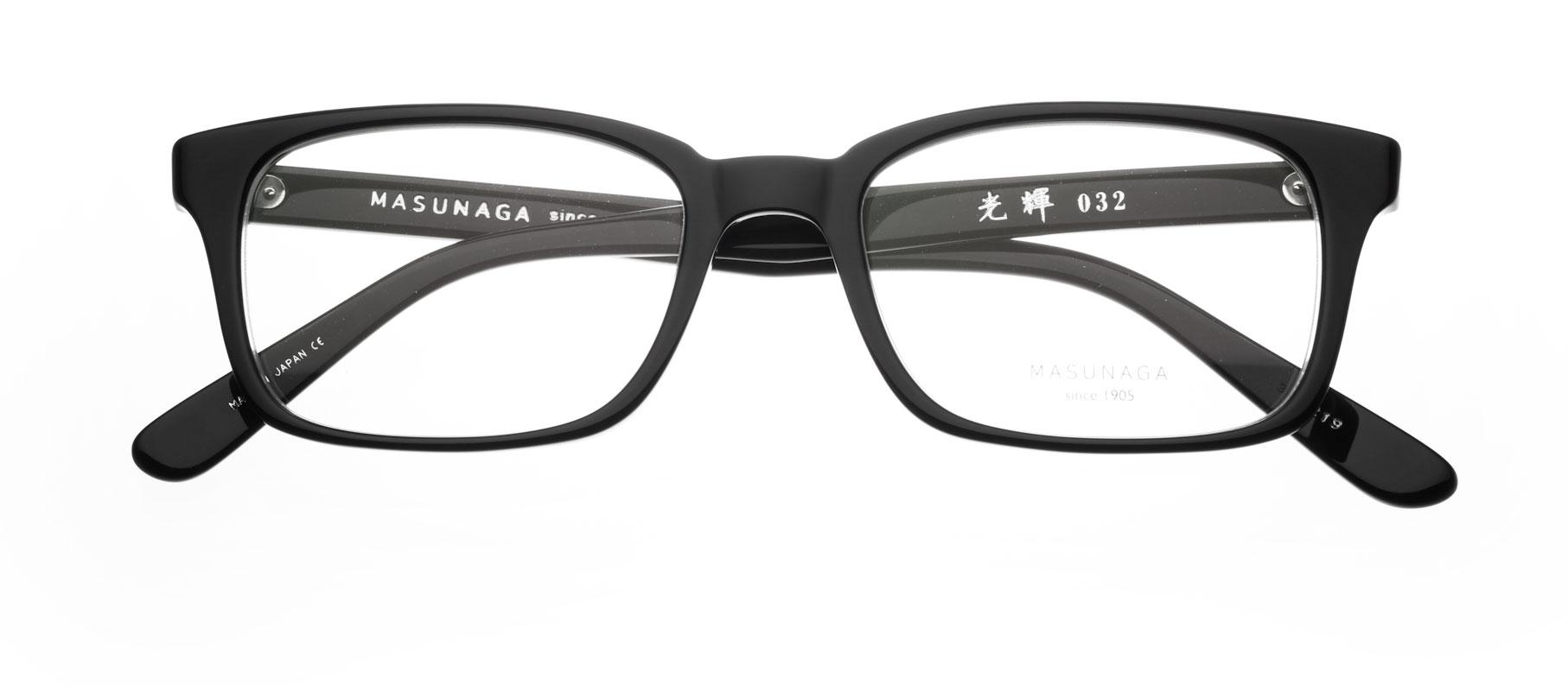 Brillenfassung Shibuya eckig, schwarz | Masunaga | lunettes-shop.de